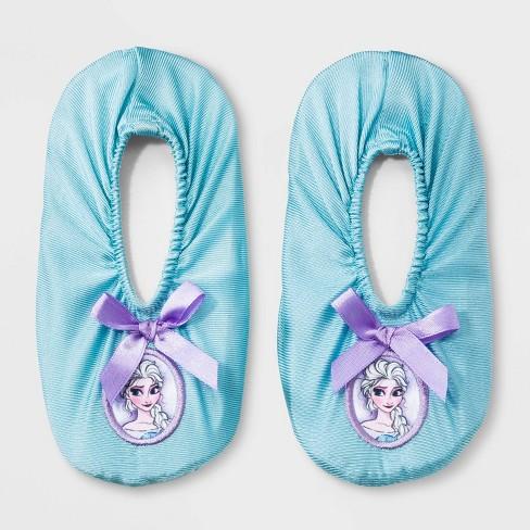 Toddler Girls' Disney Frozen Elsa Slippers - Light Blue - image 1 of 1