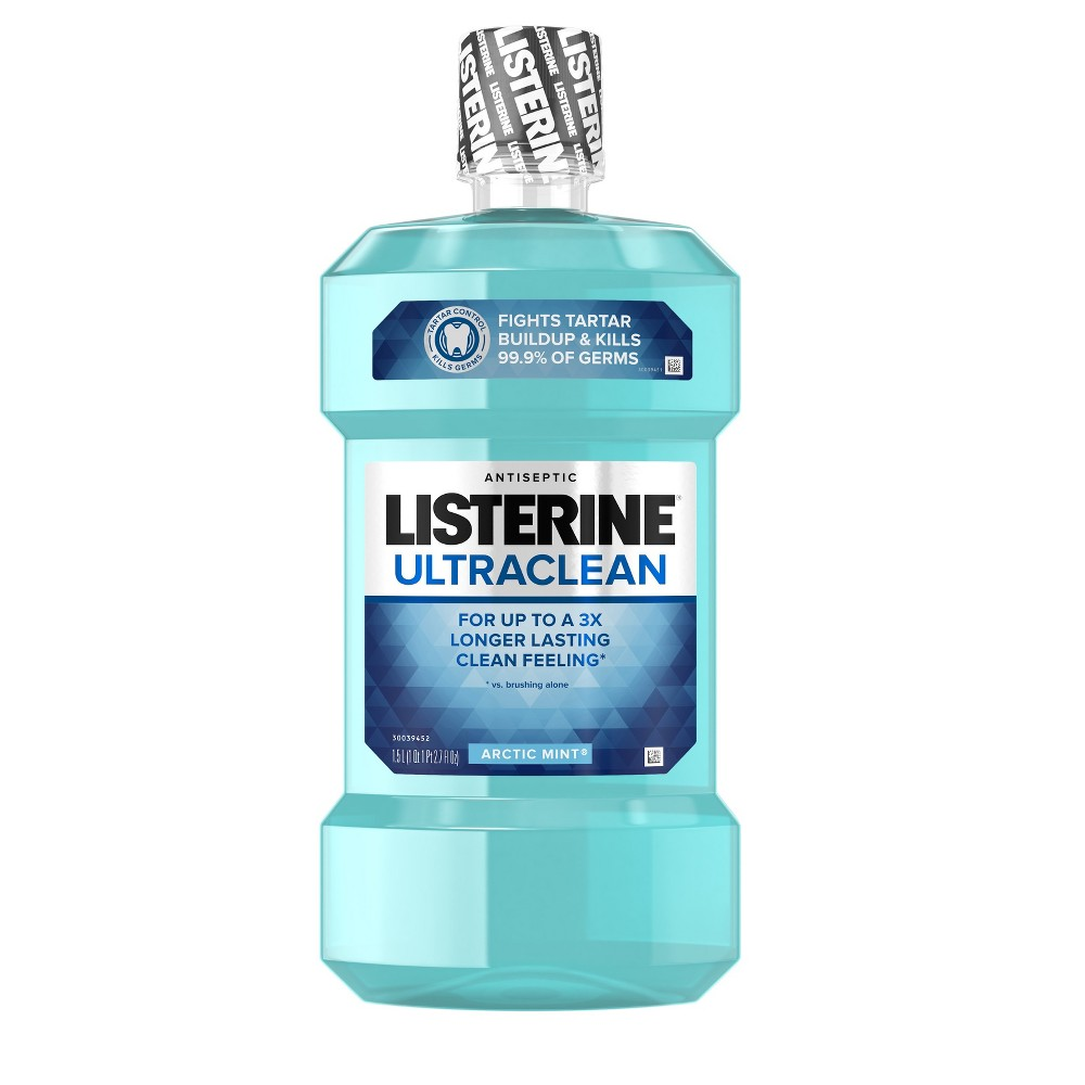 Image of Listerine Ultraclean Arctic Mint Antiseptic Mouthwash For Bad Breath - 50.72 fl oz