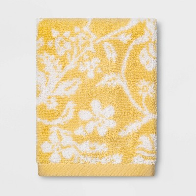 Performance Floral Texture Washcloth Yellow Floral - Threshold™