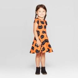 Toddler Girls' 'Cat' Halloween Dress - Cat & Jack™ Orange