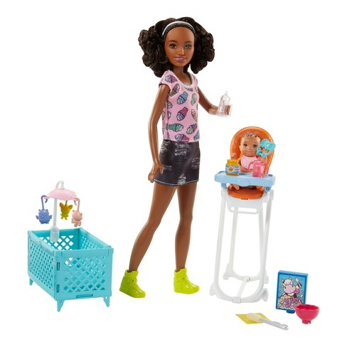 Barbie Skipper Babysitters Inc. Doll and Feeding Playset - Brunette - image 1 of 8