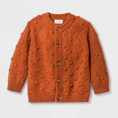 Baby Girls' Bobble Cardigan - Cat & Jack™ Orange