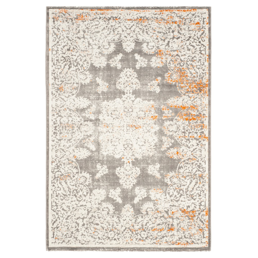 Kena Area Rug - Gray / Ivory (4' X 5'7 ) - Safavieh