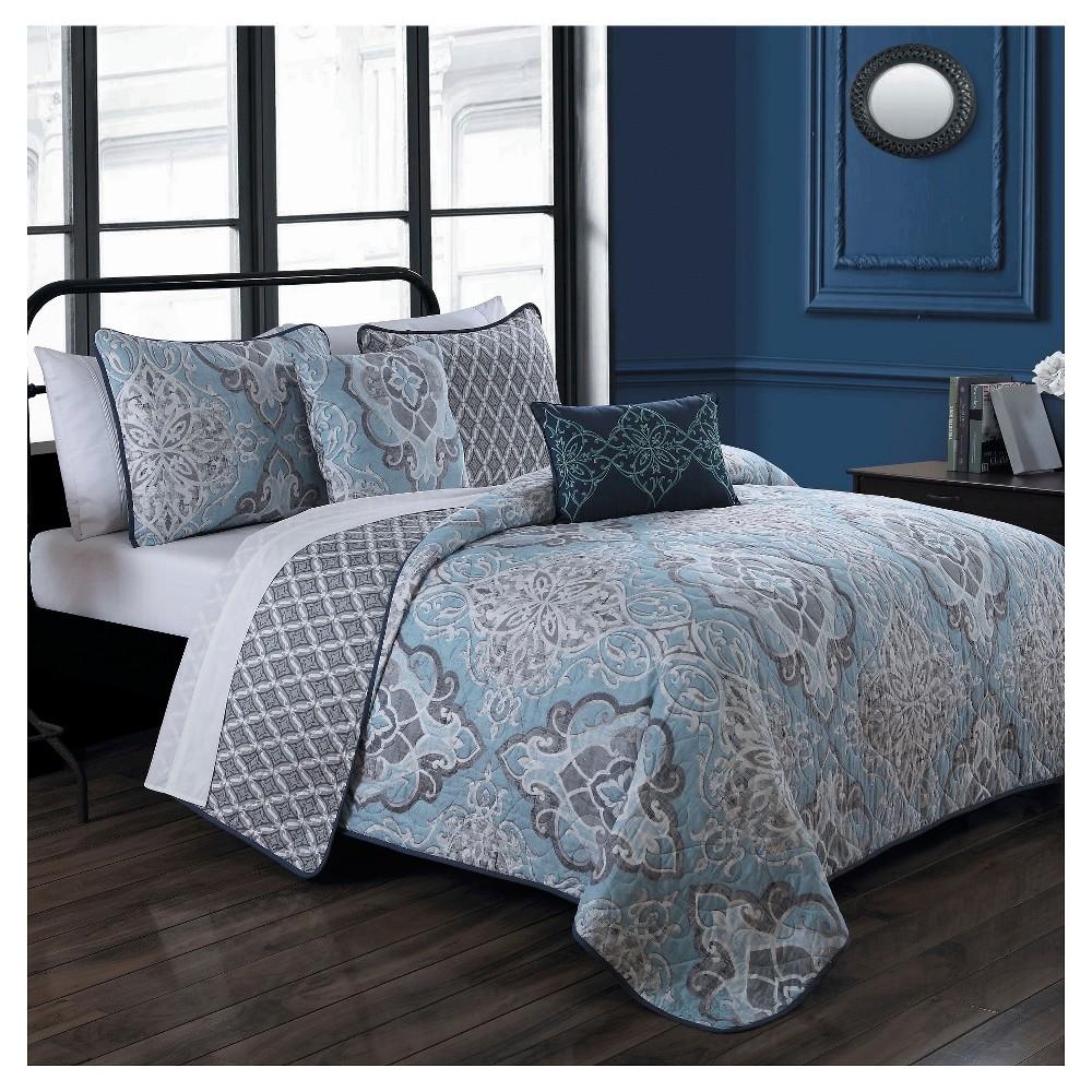 Blue Portofino Quilt Set (Queen) 5pc