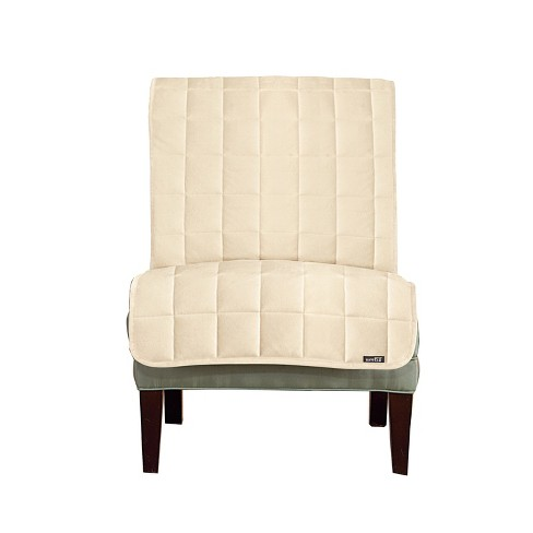Outstanding Furniture Friend Deluxe Comfort Quilted Armless Chair Furniture Protector Ivory Sure Fit Download Free Architecture Designs Scobabritishbridgeorg