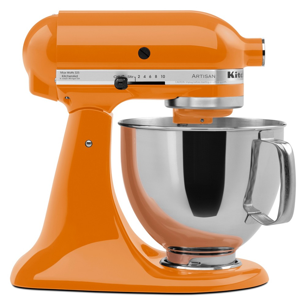 KitchenAid Refurbished 5qt Artisan Stand Mixer Tangerine (Orange) – RRK150TG 53960977