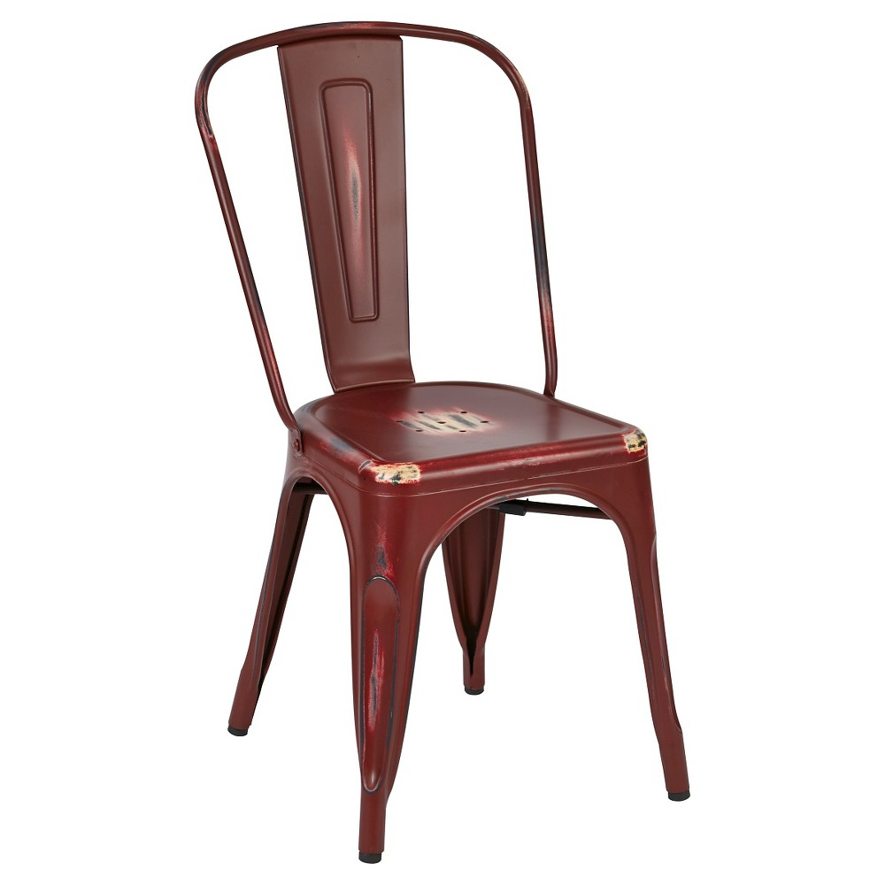 Set Of 2 Bristow Armless Chair Antique Red Osp Home Furnishings