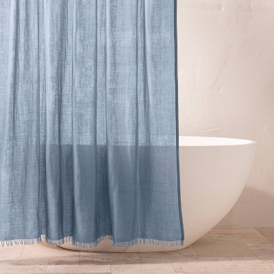 Gauze Shower Curtain Sky Blue - Casaluna™