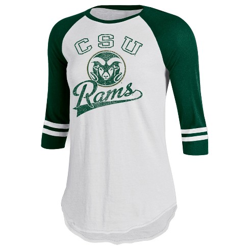 Colorado State Rams Women's Retro Tailgate White/3/4 Sleeve T-Shirt - image 1 of 1