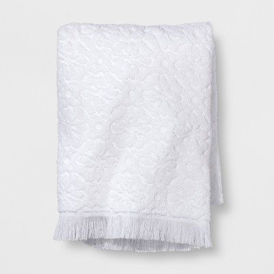 Perfectly Soft Embossed Bath Towel White - Opalhouse™