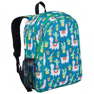 Wildkin Llamas and Cactus Green 15 Inch Backpack