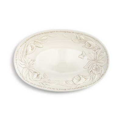 DEMDACO Spring Serving Bowl White