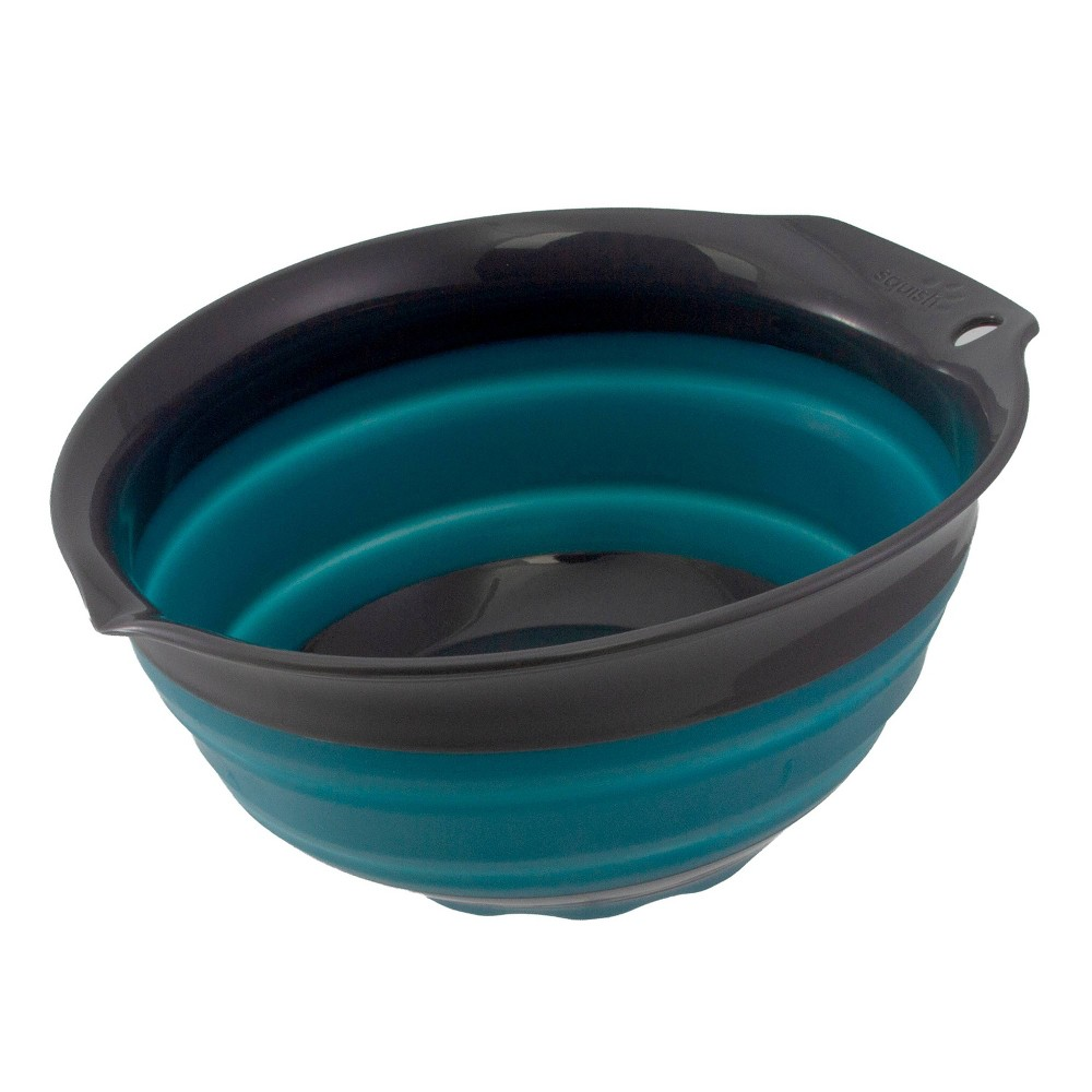 Image of Squish 1.5qt Collapsible Bowl Teal/Gray