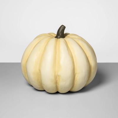 "11"" x 10.5"" Decorative Papier-Mâché Pumpkin White - Threshold™"