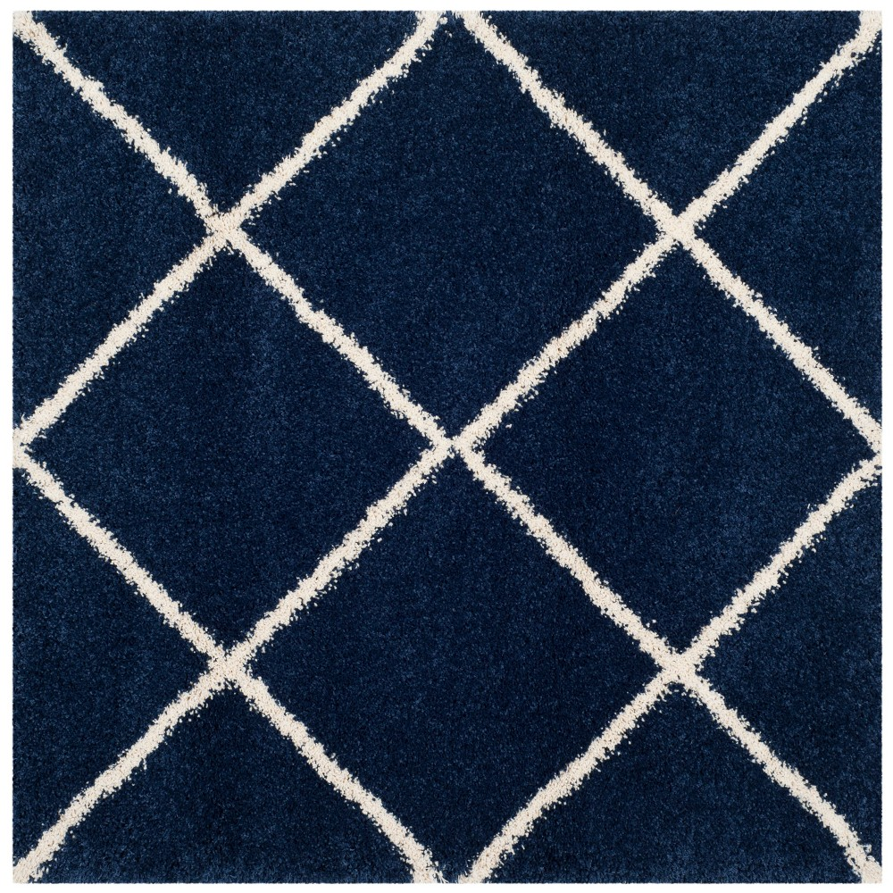 5'X5' Geometric Loomed Square Area Rug Navy/Ivory (Blue/Ivory) - Safavieh
