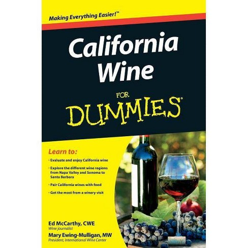 California Wine Fd - (For Dummies) by  McCarthy (Paperback) - image 1 of 1
