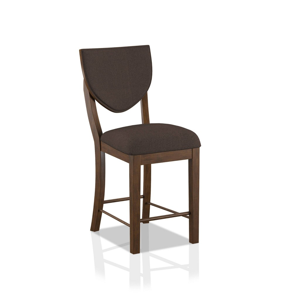 Set Of 2 Raven Padded Seat Counter Height Chair Walnut Homes Inside Out