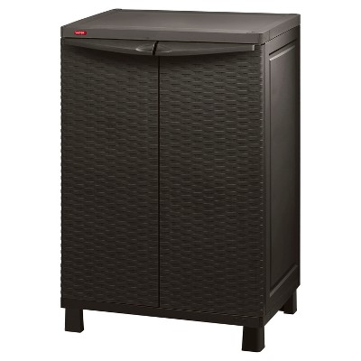 Space Basic Base Rattan Utility Storage Cabinet - Brown - Keter
