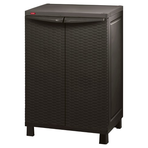Space Basic Base Rattan Utility Storage Cabinet - Brown - Keter - image 1 of 4
