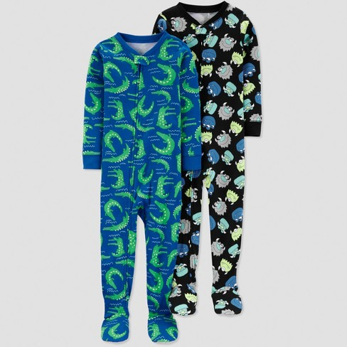 Baby Boys' Monster Pajama Set - Just One You® made by carter's Gray - image 1 of 1