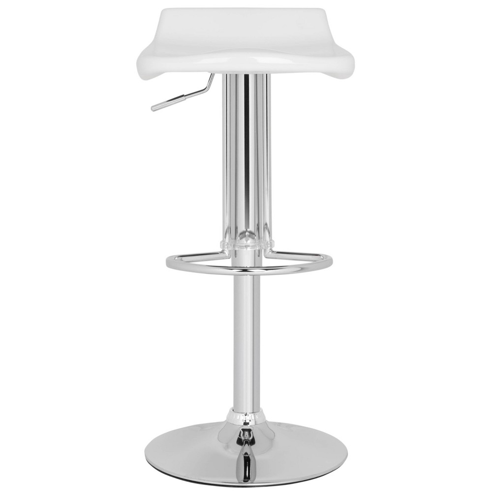 Best Shopping Avish Adjustable Barstool White Safavieh