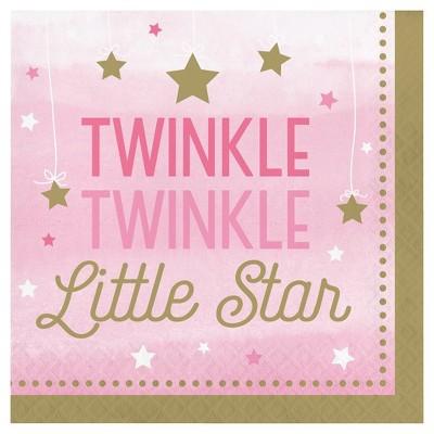 16ct One Little Star Girl Napkins