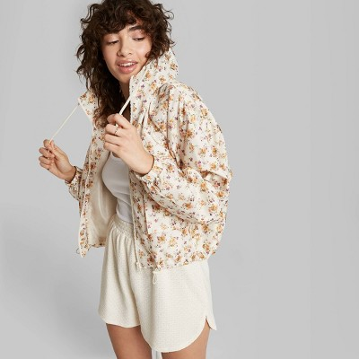 Women's High-Rise Eyelet Detail Leisure Shorts - Wild Fable™ Ivory