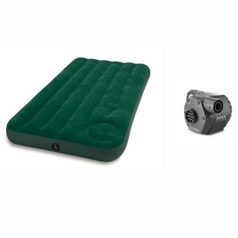 Intex Twin Inflatable Camping Air Mattress w/ Pump & 120V Electric Airbed Pump - image 1 of 4