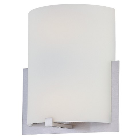 Lite Source Compact Fluores Wall Light - Silver - image 1 of 1