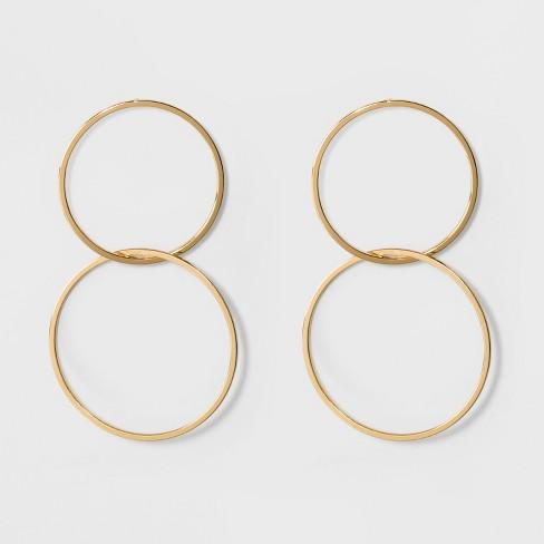 SUGARFIX by BaubleBar Double Hoop Earrings - Gold - image 1 of 4