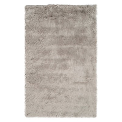 "2'6""X4' Solid Accent Rug Gray - Safavieh"