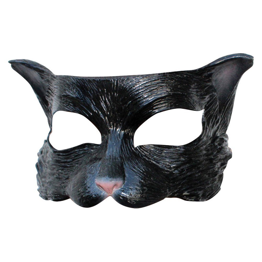 Image of Kitty Latex Half Mask Black - One Size