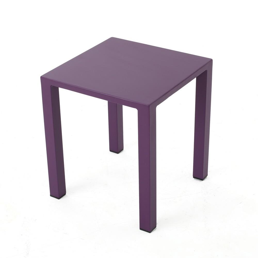Windsdor Aluminum Side Table - Purple - Christopher Knight Home