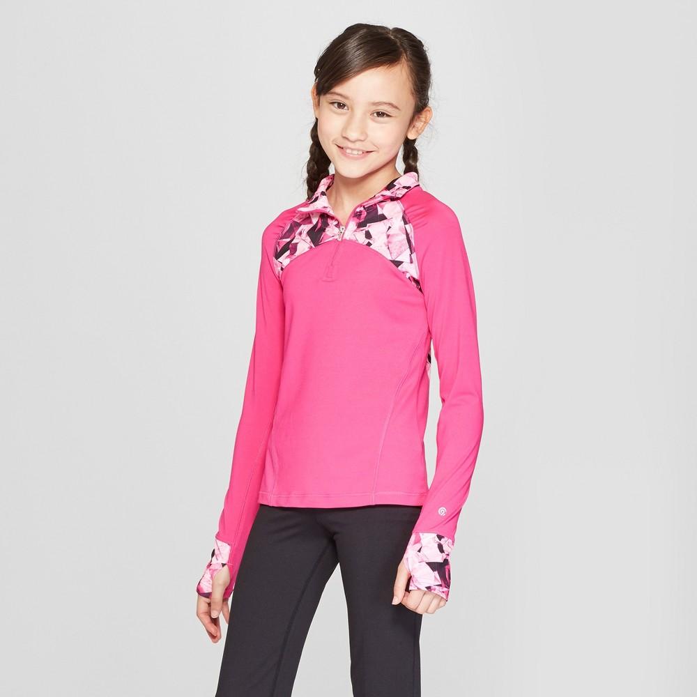 Girls' Performance 1/4 Zip Pullover - C9 Champion Fuchsia Pink XS, Fuschia Pink