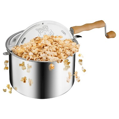 Great Northern Popcorn Original Spinner Stovetop 6 1/2 Quart Popcorn Popper