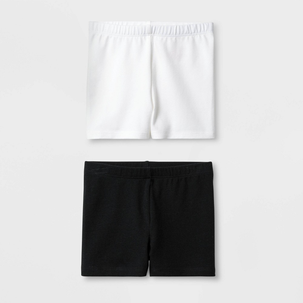 Toddler Girls 2pk Tumble Trouser Shorts Set - Cat & Jack Black/White 2T Reviews