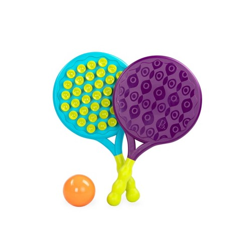 B. toys 2 Suction Paddles & 1 Ball - Paddle Popper Blue/Purple - image 1 of 3