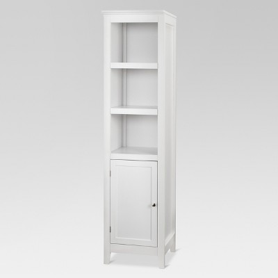 Carson72  Narrow Bookcase with Door White - Threshold™