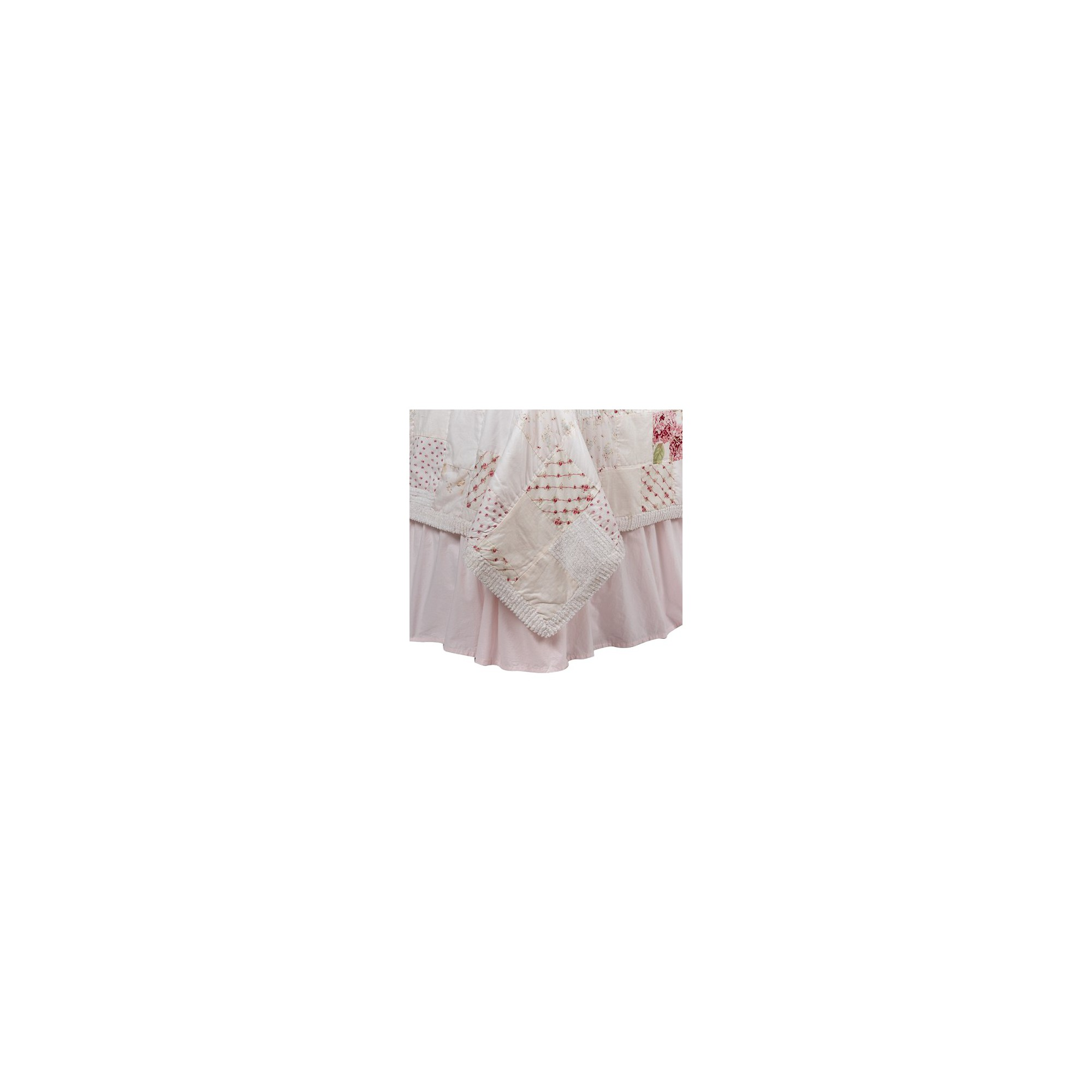 Pink Bedskirt - California King - Simply Shabby Chic