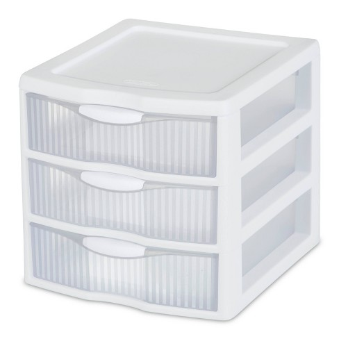 Sterilite 3 Drawer Small Countertop Unit with Drawers Clear/White - image 1 of 4