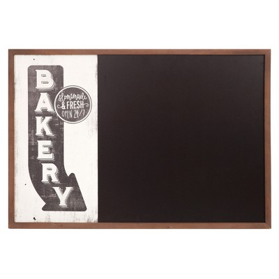 26 x38  Vintage Bakery Sign Wall Mounted Kitchen Chalkboard Walnut - Patton Wall Decor