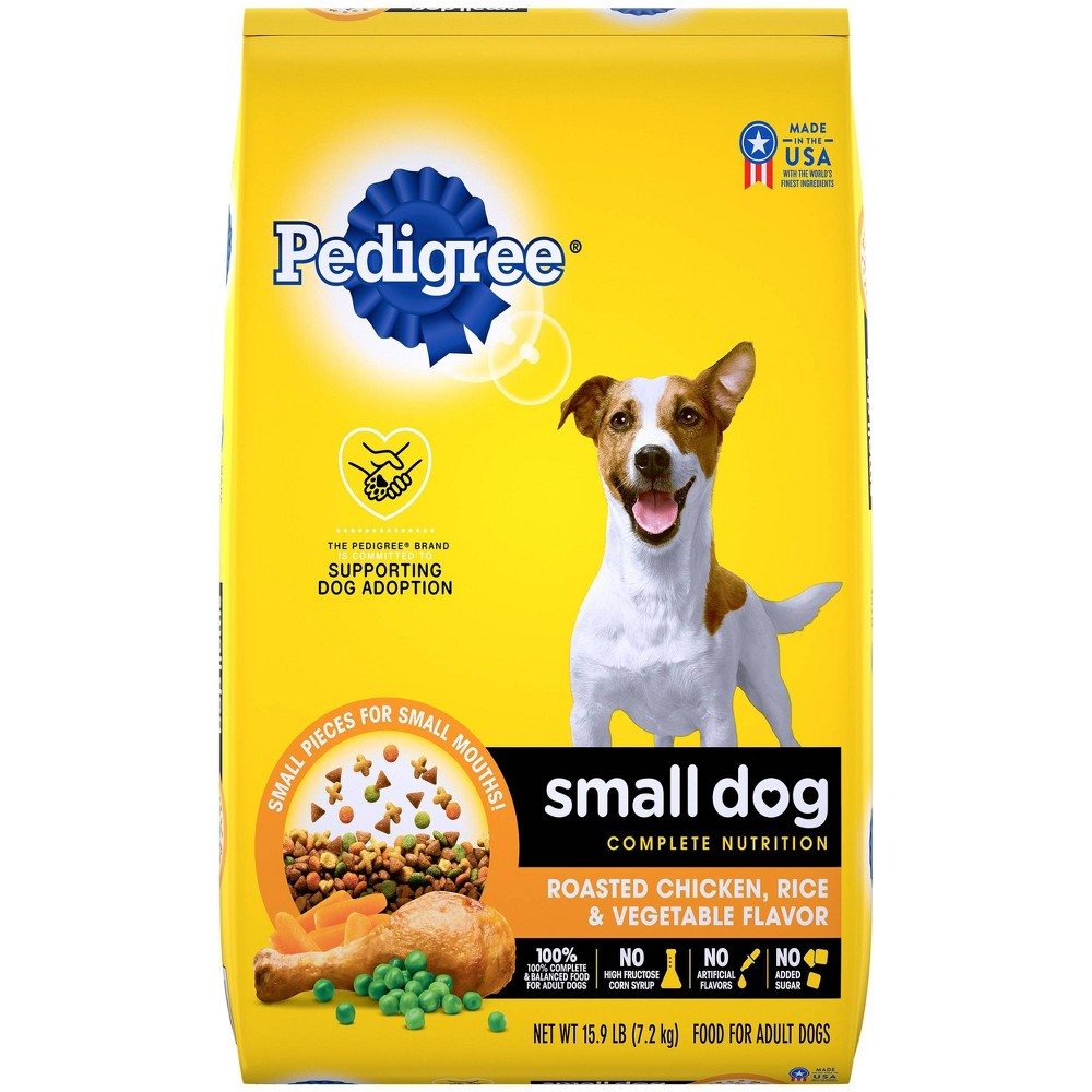 Pedigree Roasted Chicken Rice 38 Vegetable Flavor Small Dog Adult Complete Nutrition Dry Dog Food 15 9lbs