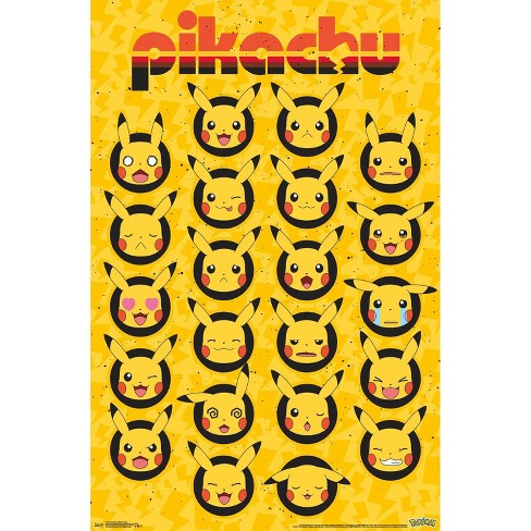 "34""x23"" Pokemon Pikachu Faces Unframed Wall Poster Print - Trends International - image 1 of 2"