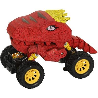 Aeromax Aeromax Dino-Faur Pull Back Dinosaur Truck | Red
