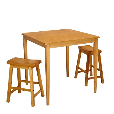 3pc Atmore Saddle Counter Height Set - Buylateral