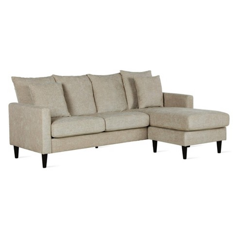 Clifton Reversible Sectional With Pillows - Dorel Living - image 1 of 9