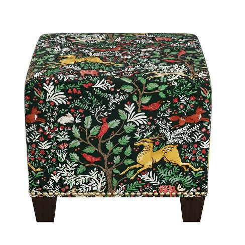 Stupendous Square Nail Button Ottoman Frolic Evergreen Skyline Furniture Caraccident5 Cool Chair Designs And Ideas Caraccident5Info