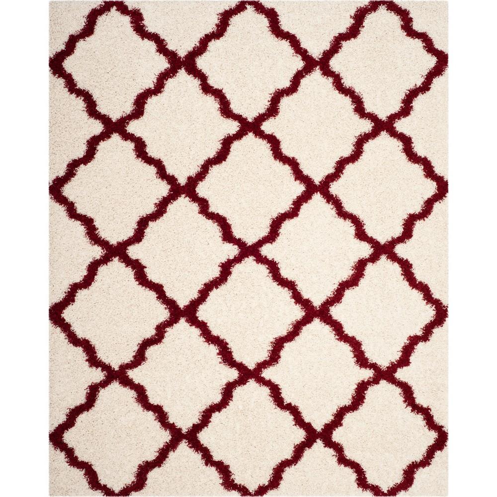 6 X9 Quatrefoil Design Loomed Area Rug Ivory Red Safavieh