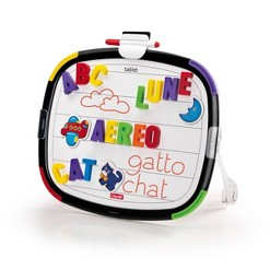 Quercetti Double-Sided Magnetic Board with Letters