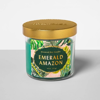 4.1oz Glass Jar Candle Emerald Amazon - Opalhouse™